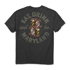 Eat, Drink and be Maryland Crab & Beer T-Shirt - Maryland My Maryland - NWT