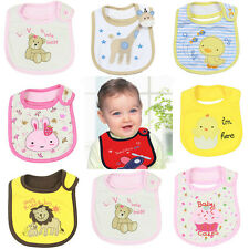 Newboran Infant Toddler Baby boy girl kid bib saliva towel cartoon animal kawaii