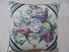 Designers Guild floral Fabric Royal Collection  Wyatt Magenta Cushion Cover