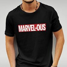 'MARVEL - OUS' MARVEL - TEE - CREWNECK SHORT SLEEVE T-SHIRT IN BLACK OR WHITE