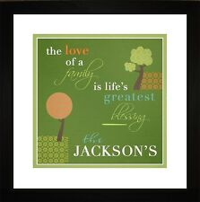 Personalized Art- Love Family Mother Birthday Welcome Wall Art Gift FLOVFAM1