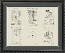 Patent Art Poster - Drums - Snare Collection Print Music Drummer Gift PDRUM2024
