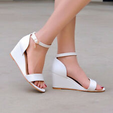 Shoes Women Summer Open Toe High Heels Wedges Platform Sandals Casual Ladies