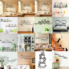 Vinyl Home Room Decor Art Quote Word Wall Decal Stickers Removable Mural DIY
