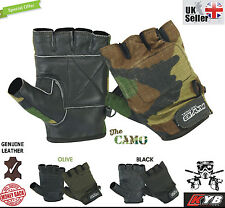 Hunting Airsoft Paintball Gloves Half Finger Less Foam Padded Yoga Fitness Mitts