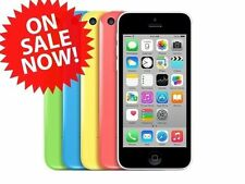 Apple iPhone 5C 5 C Sprint T-Mobile or Unlocked White Blue Pink White 8/16/32GB