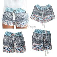 New Ladies Womens Girl Floral Print Shorts Beach Board Swimming Hot Pants