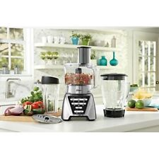 Countertop Food Processor Blender w Chopper & Smoothie Blending Cup & 5 Cup Bowl