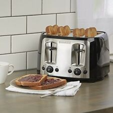 Wide 4 Slice Toaster Stainless Steel Accent Bagel Function Crumb Tray Xtra Lift