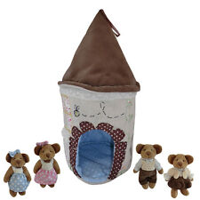 Powell Craft  Teddy Bear House + Mini Teddy Bears, Great Gift!