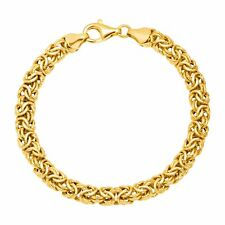 Byzantine Chain Bracelet in 18K Gold-Plated Sterling Silver