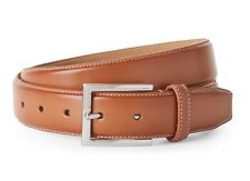COLE HAAN BELT LEATHER CONTRAST STITCH BELT IN TAN NEW W/TAGS