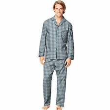 Hanes LSLLBCWM/LSLLBCWMB Mens Woven Pajamas-2-- Choose SZ/Color.
