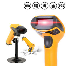 Laser Barcode Scanner USB Bar Code Reader with Stand Handheld Automatic Sensing