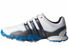 ADIDAS GOLF POWERBAND TOUR SHOES WHITE SILVER BLUE - CHOOSE SIZE