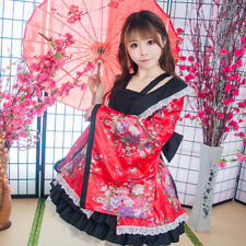 Women Apron Dress COSPLAY Clothing Modified Style Kimono Lolita Dress Suit Gifts