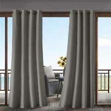 Indoor Outdoor Modern Grommet Solid Taupe Curtain Panel Cabana Privacy