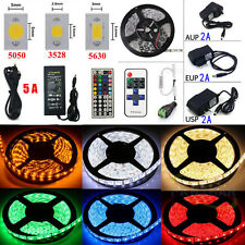 5M 10M 20M LEDs 3528/5050/5630 RGB Flexible Strip Light Full Kits (Remote+Power)