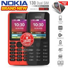 New Unlocked NOKIA 130 Black Red Dual SIM Old Senior Citizen Keypad Cell Phone