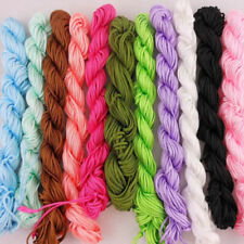 New 1mm Nylon Macrame Shamballa Braided Bracelet Rattail Cord Thread String Rope