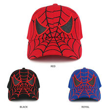 Youth Spider Web and Eyes Embroidered Structured Baseball Cap