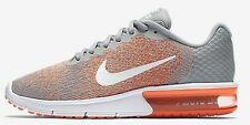 Nike AIR MAX SEQUENT-2 WOMEN'S RUNNING SHOE Wolf Grey/Bright Mango- US 7 Or 8.5