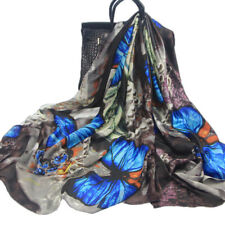 Luxury Women Natural Silk Scarf Butterfly Print Hijab Scarves Wraps Pashmina HOT