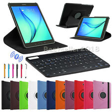 "For Samsung Galaxy Tablets 7""-10.1"" Bluetooth Keyboard +Smart Leather Case Cover"
