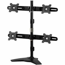 "Amer Mounts Stand Based Quad Monitor Mount for four 15""-24"" LCD/LED Flat Panel S"