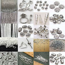 Lots Silver Plated Chains/Hook/Pin/Jump Rings/Lobster Clasp Jewelry Making Craft