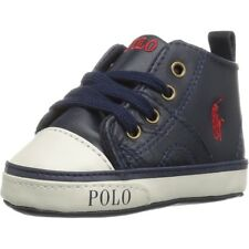 Polo Ralph Lauren Daymond Mid Layette Navy Leather Baby Soft Soles Shoes