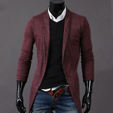 Stylish Mens Slim Fit Solid Knitted Sweater Jumpers Cardigan Coats Jackets