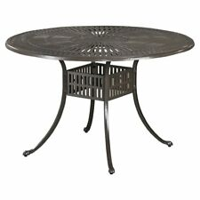 Home Styles Largo 48 in. Round Cast Aluminum Patio Dining Table