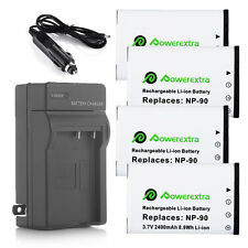 NP-90 Battery + Charger For Casio Exilim EX-FH100 EX-H10 EX-H15 EX-H20G Camera