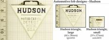 Hudson automobile decorative fobs, various designs & keychain options