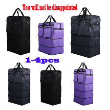 """36"""" 40"""" Rolling Wheeled Duffel Bag Spinner Suitcase Spinning Luggage LOT1~4 EW"""