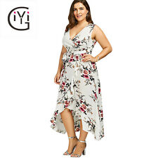 Maxi Beach Dress Plus Size Long Women Summer Boho Party Chiffon Evening Wrap Kit