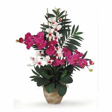 Nearly Natural Double Phalaenopsis and Dendrobium Orchid Silk Flower
