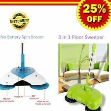 360° Spin Hand Push Broom Sweeper Household Floor Cleaning Mop NO Electric AW