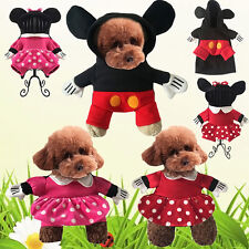 Mickey Minnie Pet Dog Halloween Costume Puppy Cat Hooded Fancy Clothes Apparels