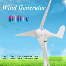 400W 3 Blade Wind Turbine Generator with Windmill Charge Controller DC 12V/24V