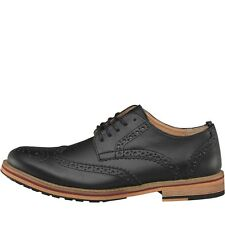 NEW Peter Werth Mens Bale Leather Brogue Shoes Black 7-11 UK