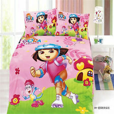 Dora The Explorer Kids Single King Bed Quilt/Doona/Duvet Cover Set Pillowcase