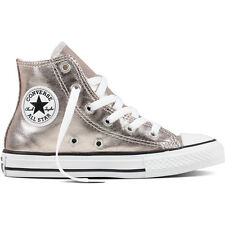 Converse Chuck Taylor All Star Hi Rose Quartz Textile Junior Trainers Shoes