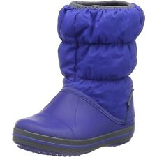 Crocs Kids Winter Puff Boot Cerulean Blue/Light Grey Nylon Infant