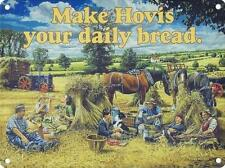 MAKE HOVIS YOUR DAILY BREAD - FARM HAY TRACTOR HORSES TIN SIGN METAL PLAQUE 856