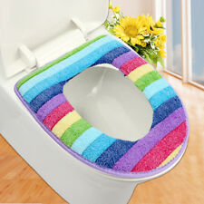 colorful toilet set bathroom cover wc seat cover bath mat holder closestool