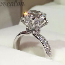 Engagement wedding Band Ring Women 3ct cz 925 Sterling Silver High Quality