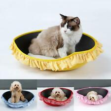 Soft Pet Puppy Dog Cat Bed House Basket Kennel Doggy Warm Cushion Removable New