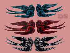 Birds Sparrow Swallows Pair iron sew on Patch Badge